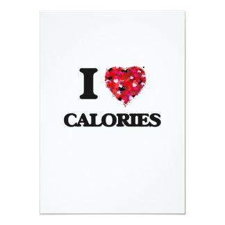 I love Calories 5x7 Paper Invitation Card