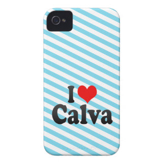 I love Calva iPhone 4 Case