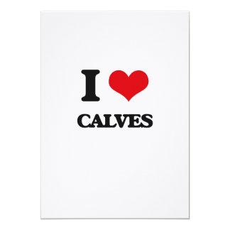 I love Calves 5x7 Paper Invitation Card