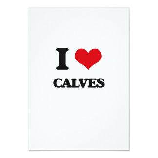 I love Calves 3.5x5 Paper Invitation Card