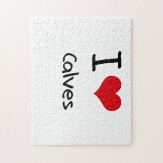 I love Calves Jigsaw Puzzle