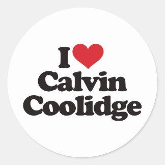 I Love Calvin Coolidge Stickers