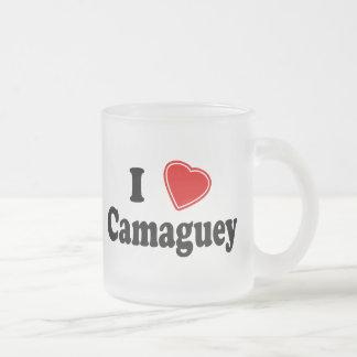 I Love Camaguey 10 Oz Frosted Glass Coffee Mug
