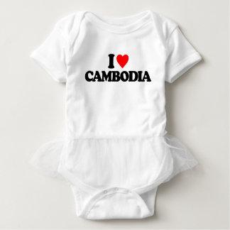 I LOVE CAMBODIA BABY BODYSUIT