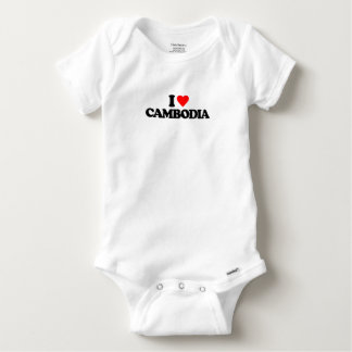 I LOVE CAMBODIA BABY ONESIE