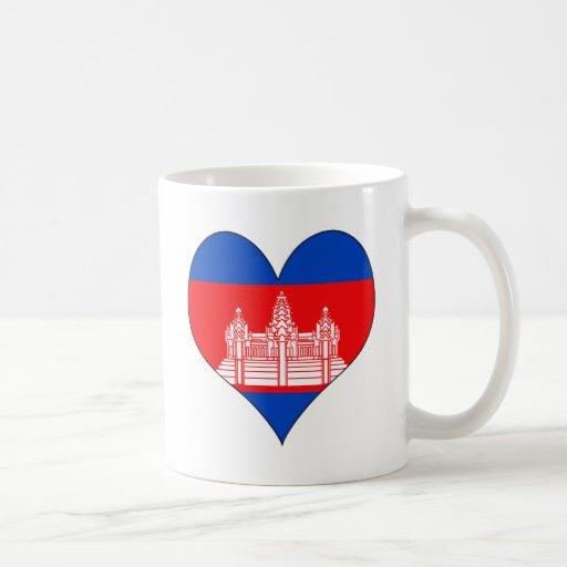 I Love Cambodia Coffee Mugs