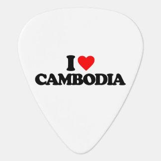 I LOVE CAMBODIA GUITAR PICK