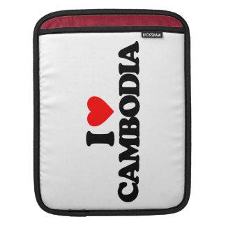 I LOVE CAMBODIA iPad SLEEVE