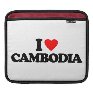 I LOVE CAMBODIA iPad SLEEVES