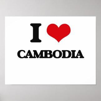 I Love Cambodia Posters
