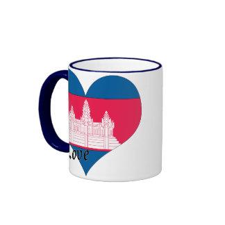 I love Cambodia Ringer Coffee Mug
