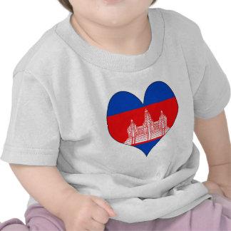 I Love Cambodia Tee Shirt