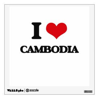 I Love Cambodia Room Stickers