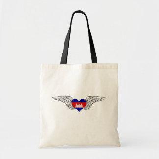I Love Cambodia -wings Budget Tote Bag