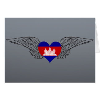 I Love Cambodia -wings Greeting Card