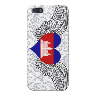 I Love Cambodia -wings iPhone 5/5S Covers