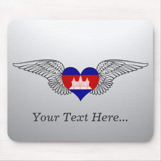 I Love Cambodia -wings Mouse Pad