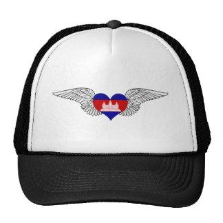 I Love Cambodia -wings Trucker Hat