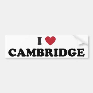I Love Cambridge Massachusetts Bumper Sticker