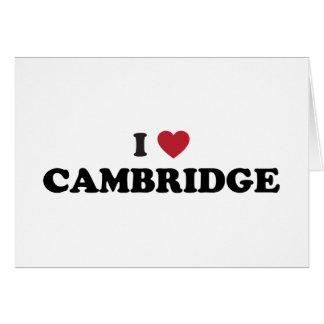 I Love Cambridge Massachusetts Card