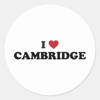 I Love Cambridge Massachusetts Classic Round Sticker