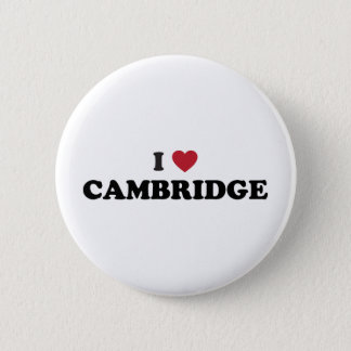 I Love Cambridge Massachusetts Pinback Button