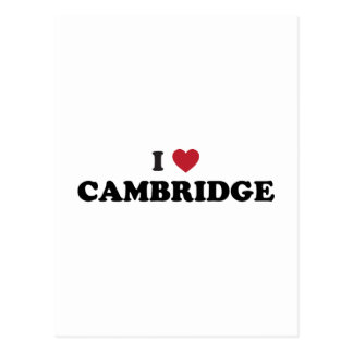 I Love Cambridge Massachusetts Postcard