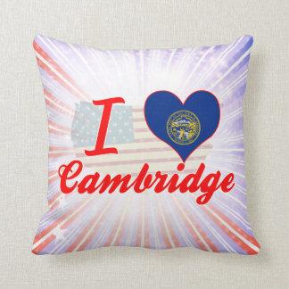 I Love Cambridge, Nebraska Pillow