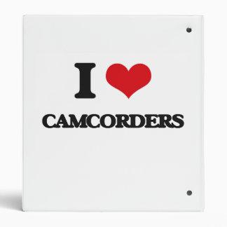 I love Camcorders Vinyl Binder