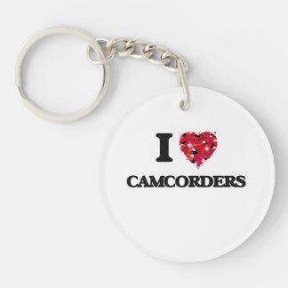 I love Camcorders Single-Sided Round Acrylic Keychain