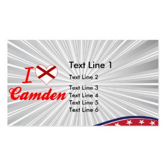 I Love Camden, Alabama Business Card Template