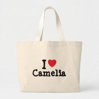 I love Camelia heart T-Shirt Canvas Bag