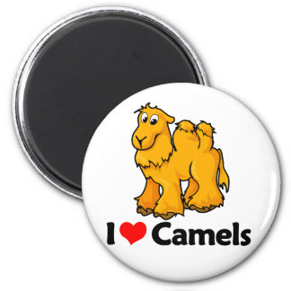 I Love Camels 2 Inch Round Magnet