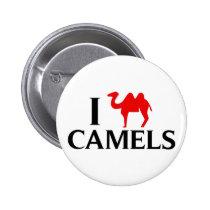 I Love Camels Pinback Button