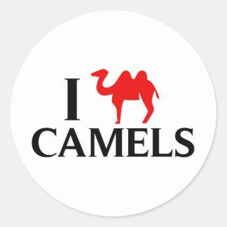 I Love Camels Round Sticker