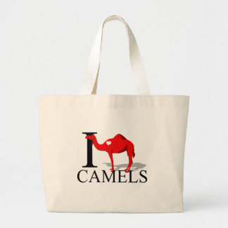 I Love Camels Tote Bags