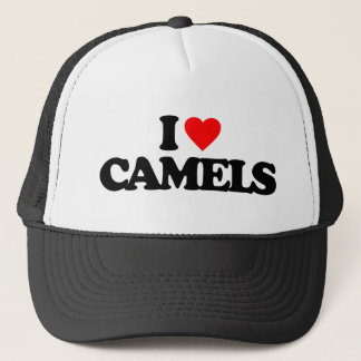 I LOVE CAMELS TRUCKER HAT