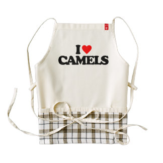 I LOVE CAMELS ZAZZLE HEART APRON