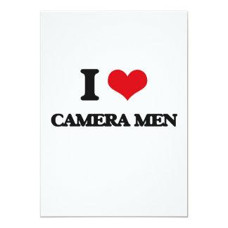 I love Camera Men Personalized Invitations