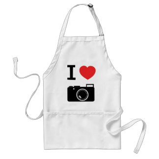 I love Cameras Adult Apron