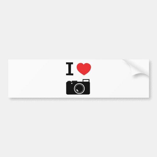 I love Cameras Bumper Sticker