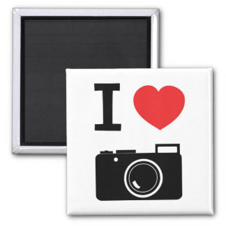 I love Cameras 2 Inch Square Magnet