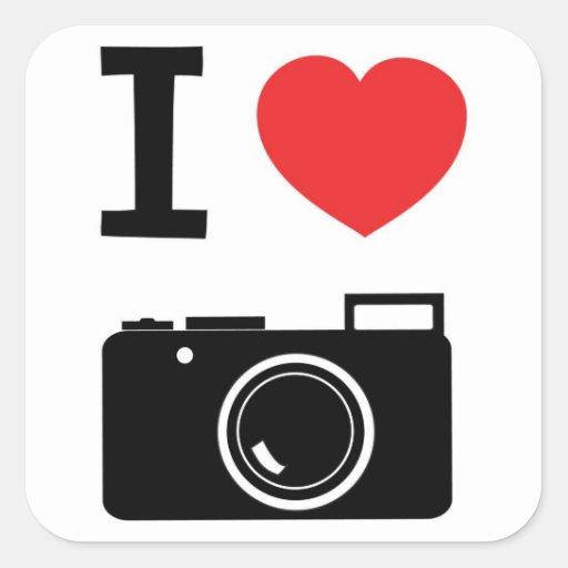 I love Cameras Sticker