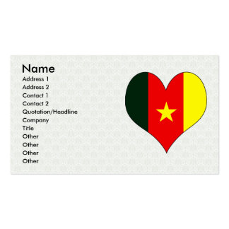 I Love Cameroon Double-Sided Standard Business Cards (Pack Of 100)