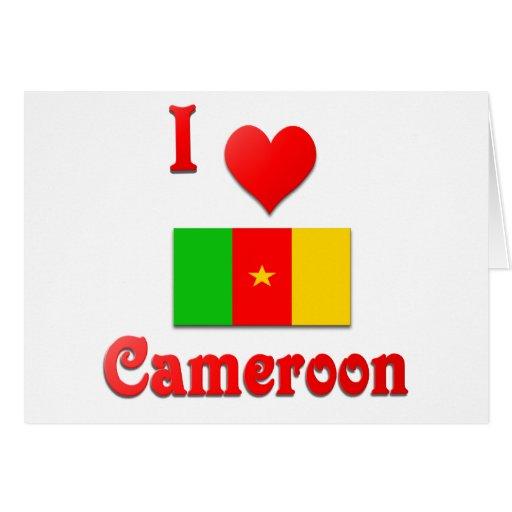I Love Cameroon Card