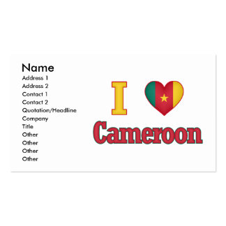 I Love Cameroon Flag Design Double-Sided Standard Business Cards (Pack Of 100)