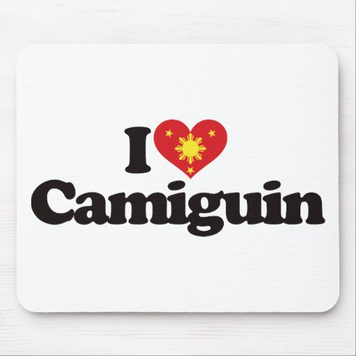 I Love Camiguin Mouse Pad