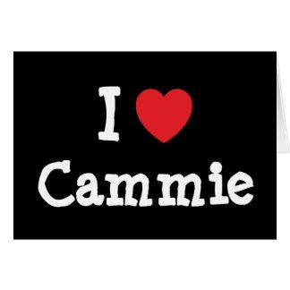 I love Cammie heart T-Shirt Greeting Card