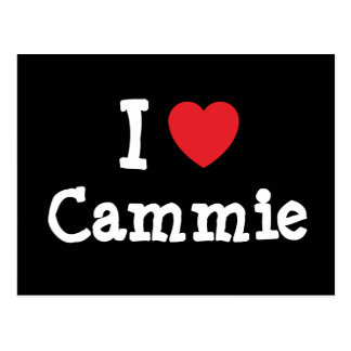 I love Cammie heart T-Shirt Post Cards