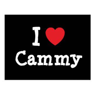 I love Cammy heart T-Shirt Post Card